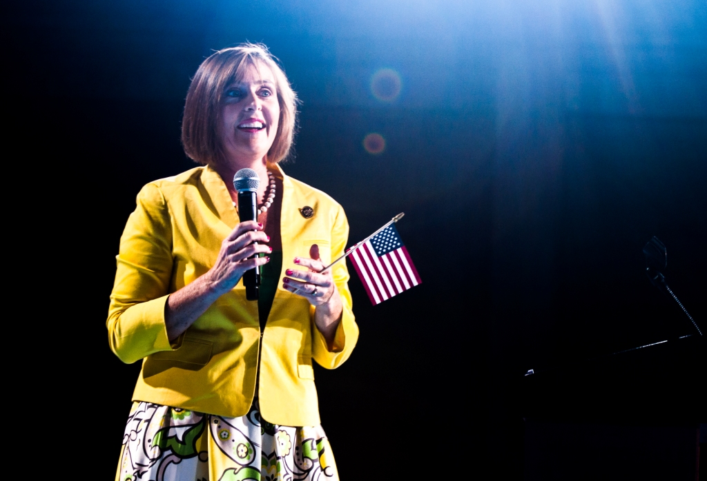 Representative Kathy Castor During the Hillary Clinton Presidential Rally in Tampa, Fla., July 22, 2016