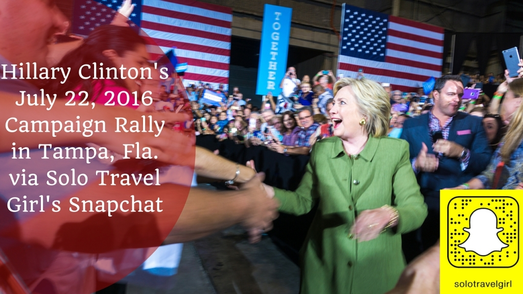 Snapchat Video of My Day Attending the Hillary Clinton Rally in Tampa, Fla., July 22, 2016