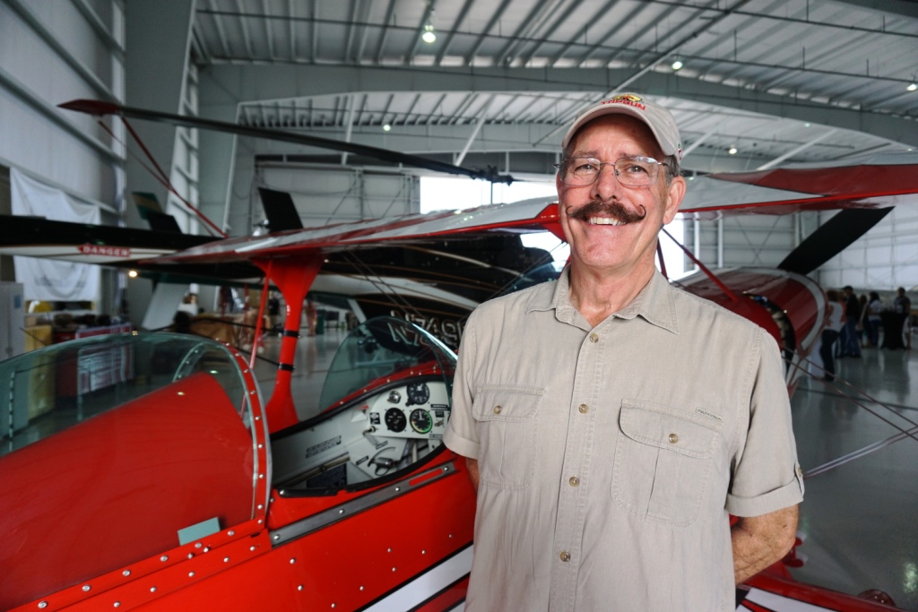 Jim McDevitt, Chief Pilot of Gulf Coast Flying Circus and His Fab Handlebar Mustache
