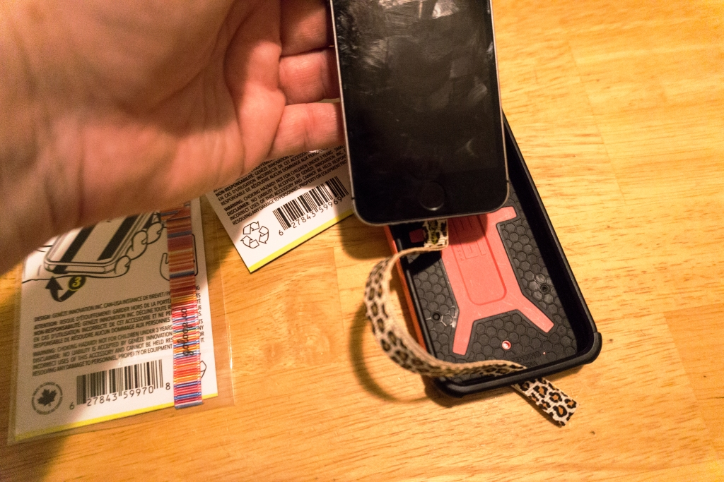 It's Easy to Affix the Petite Loop Phone Strap to My Phone Then Loop Through My Phone Case