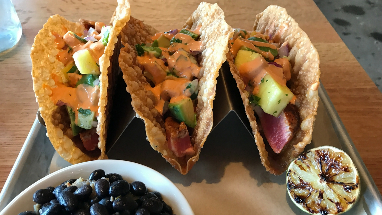 Scotty's Brewhouse - Fishermen's Village, Punta Gorda's Ahi Tuna Tacos.
