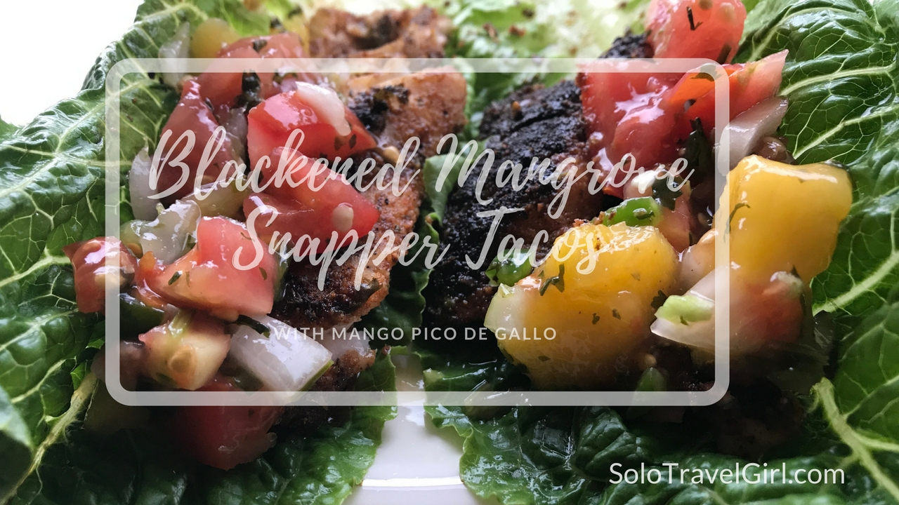 Recipe: Blackened Mangrove Snapper Taco with Mango Pico de Gallo