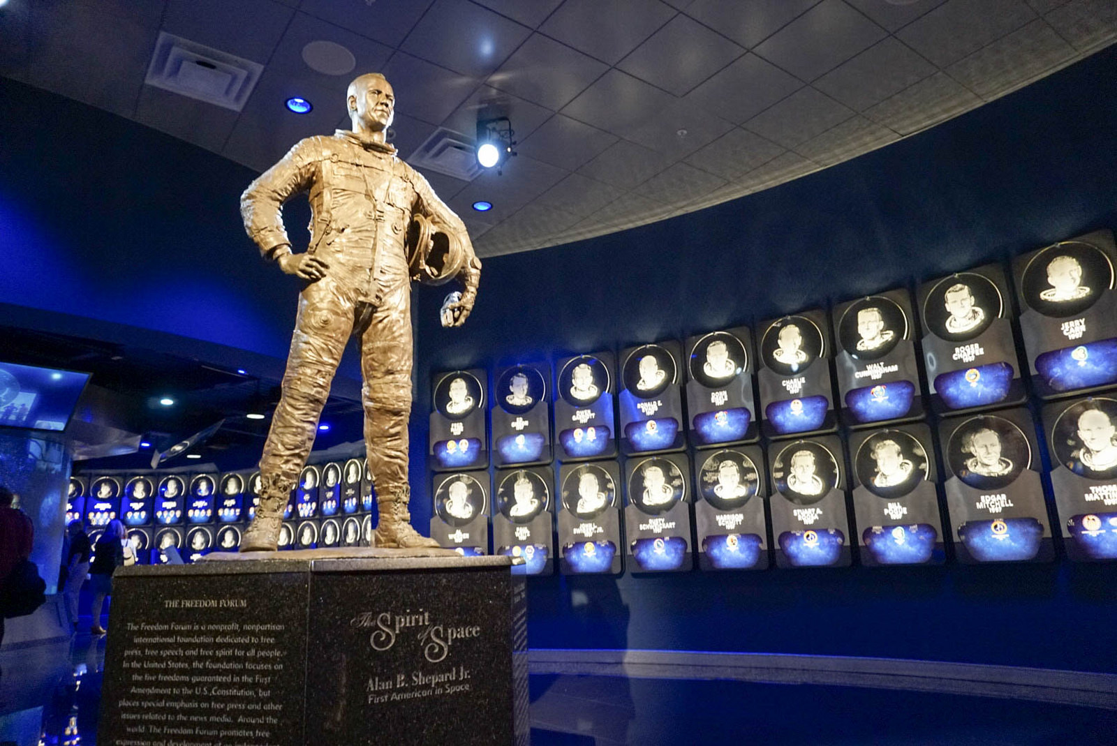 """The Spirit of Space"" Sculpture in Legends & Heroes and the U.S. Astronaut Hall of Fame Presented by Boeing, Kennedy Space Center Visitor Complex."