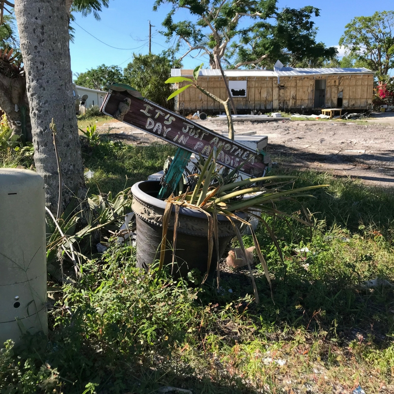 Chokoloskee, Fla., About 2 Months Following Hurricane Irma, Nov. 2017.
