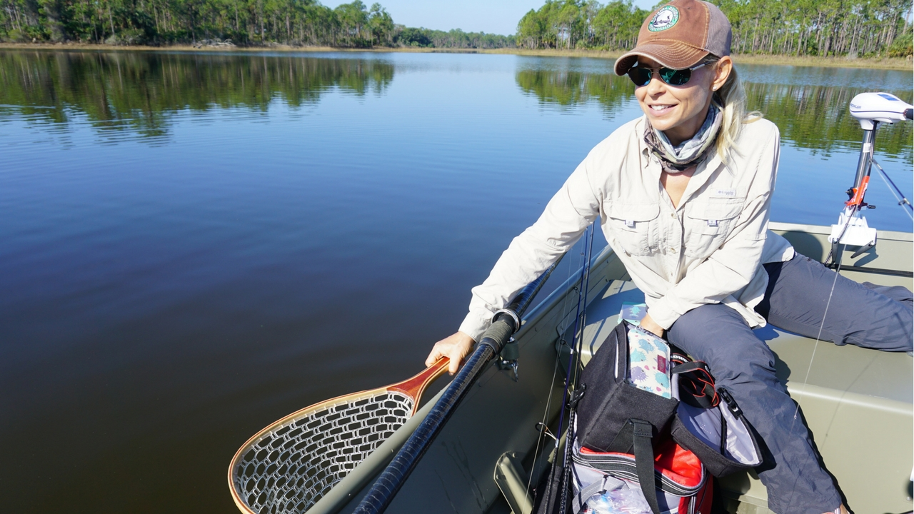 Debbie Hanson, Founder of SheFishes2.com and Freshwater Fishing Guide, Webb Lake, Babcock/Webb Wildlife Management Area, Punta Gorda, Fla.