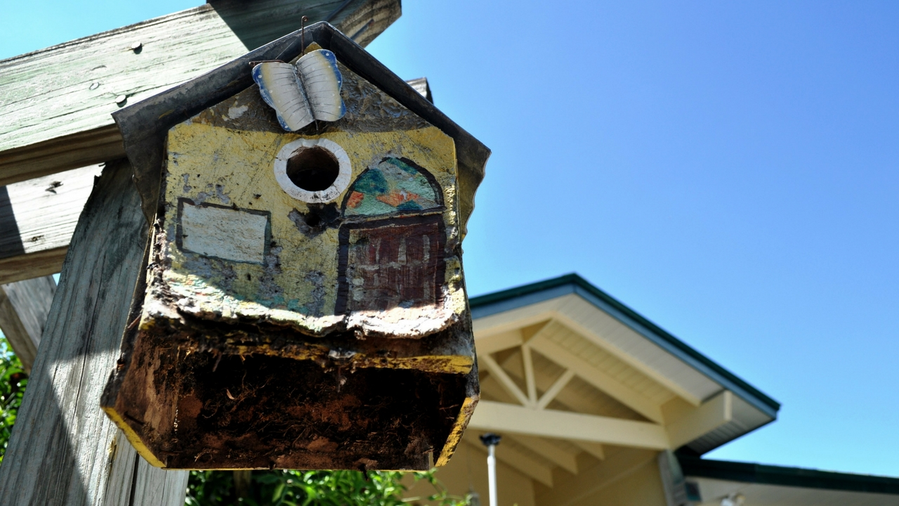 A Birdhouse at ECHO Global Farm in North Fort Myers, Fla. The Organization is Included in 100 Things to do in Fort Myers & Sanibel Before You Die by Nancy Hamilton.