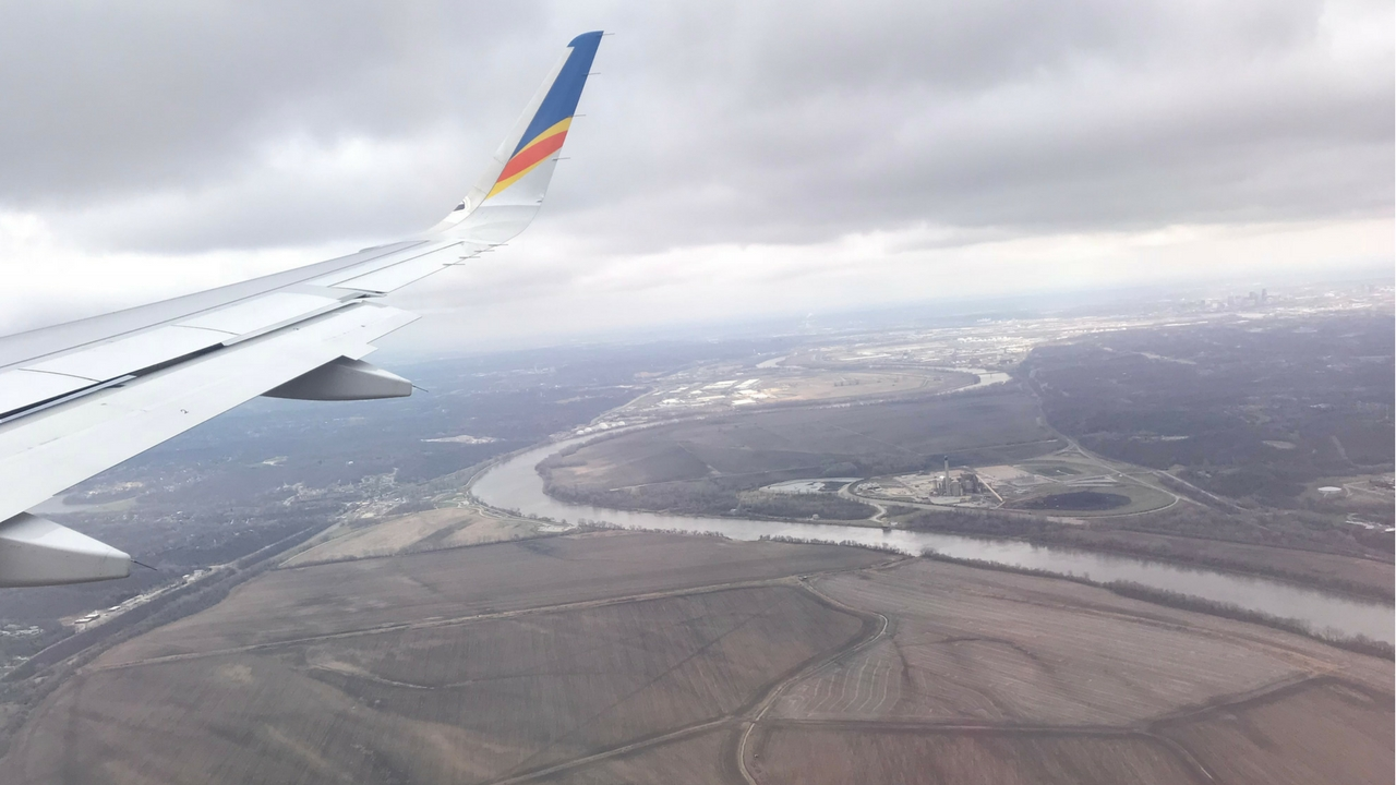 Somewhere Between Punta Gorda, Fla., and Kansas City, Mo., Aboard Allegiant, April 18, 2018