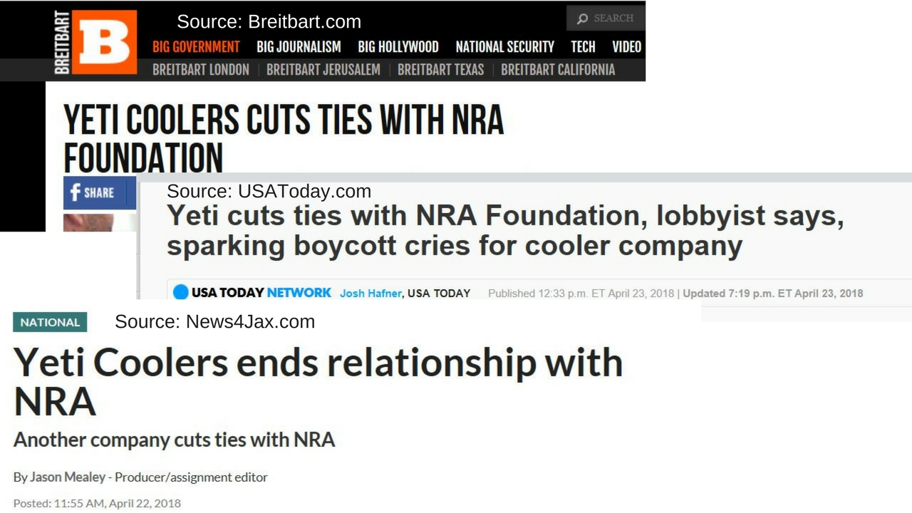 Sample Headlines. Sources Attributed.