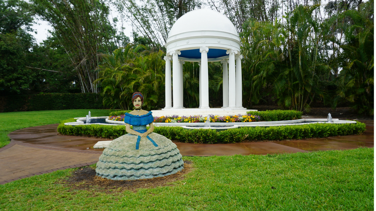 A LEGO Southern Belle Model in the Gardens of Cypress Gardens at LEGOLAND Florida Resort.