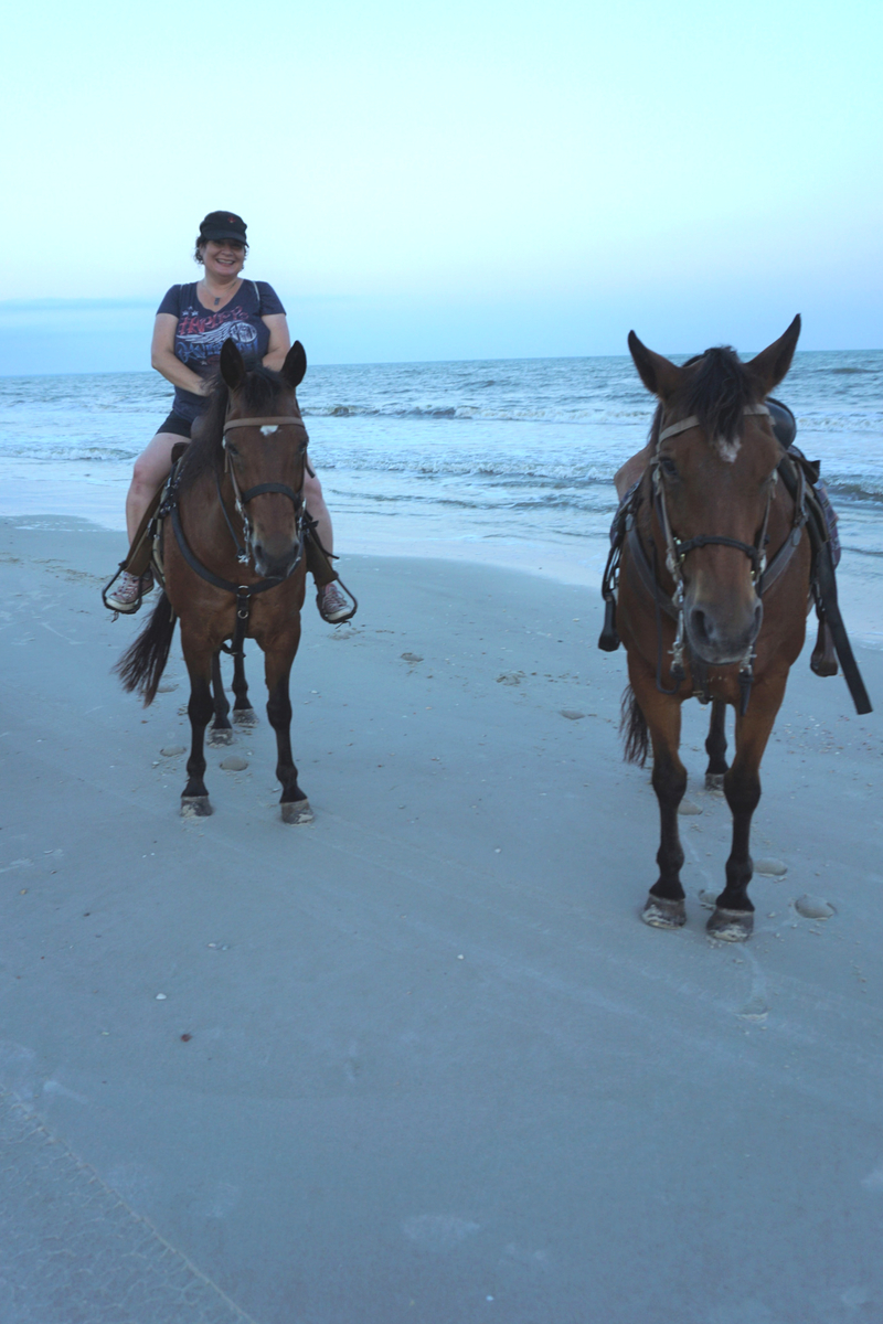 Me on a Horse with Two-Bit Stables on Cape San Blas, Fla., May 18, 2018.