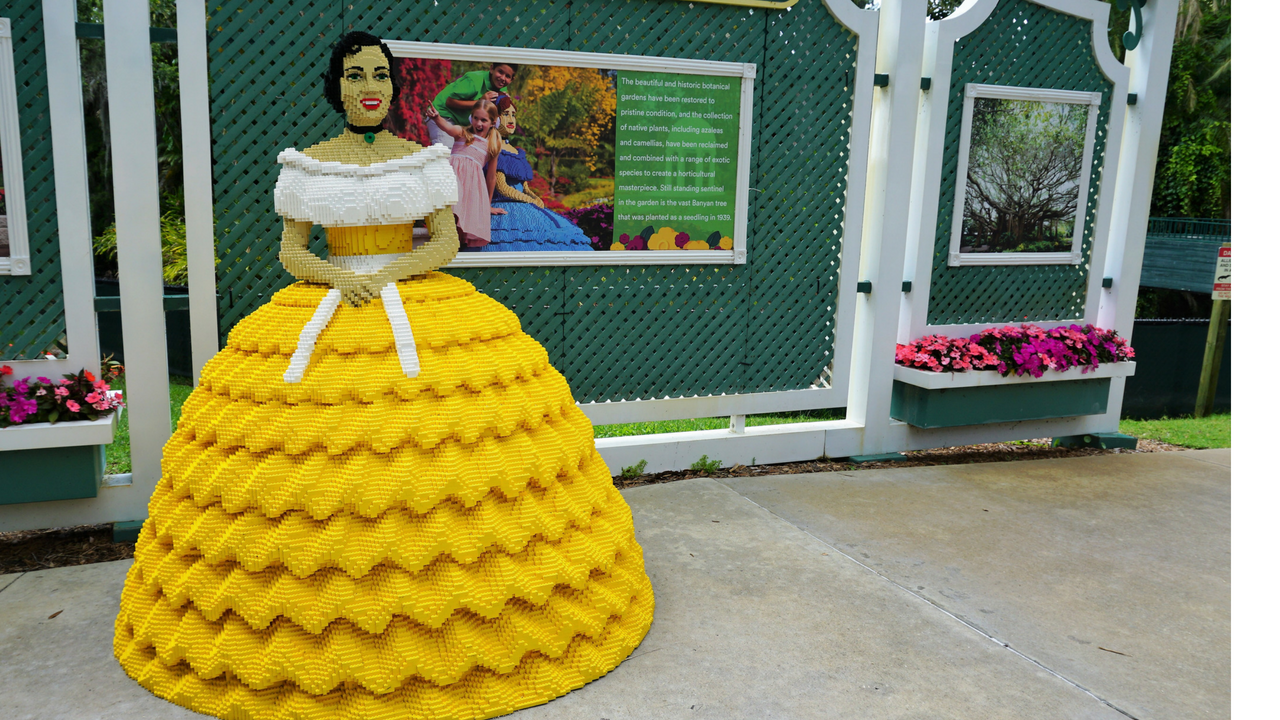 A Southern Belle at LEGOLAND Pays Homage to Cypress Gardens, Winter Haven, Fla.