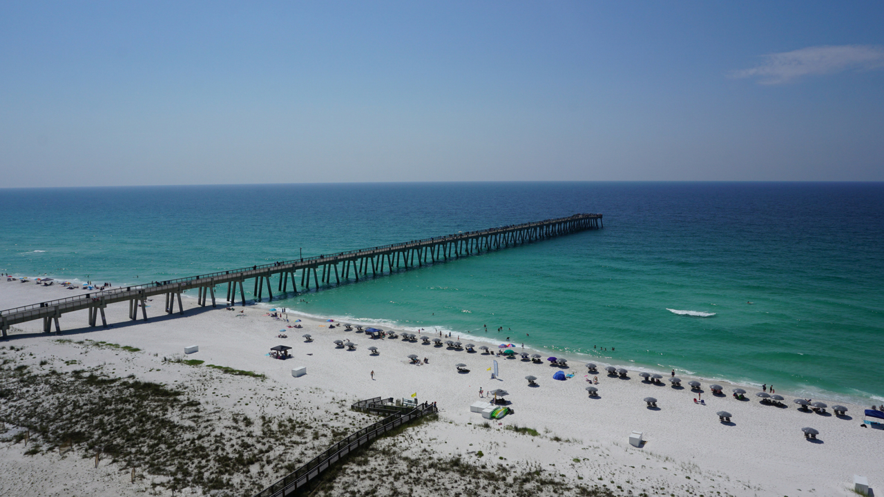 Navarre Beach Fishing Pier As Viewed from My Condo Accommodations, May 19, 2018