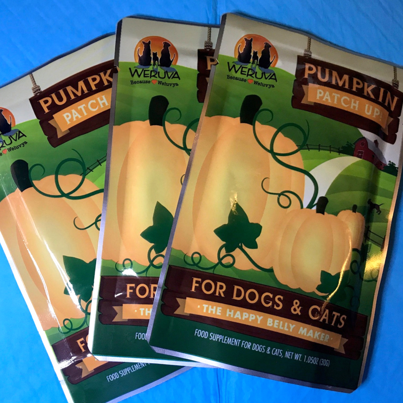 Weruva Pumpkin Patch Up! and Dog Potty Pads Will Go in My Pet Emergency Go-Kit.