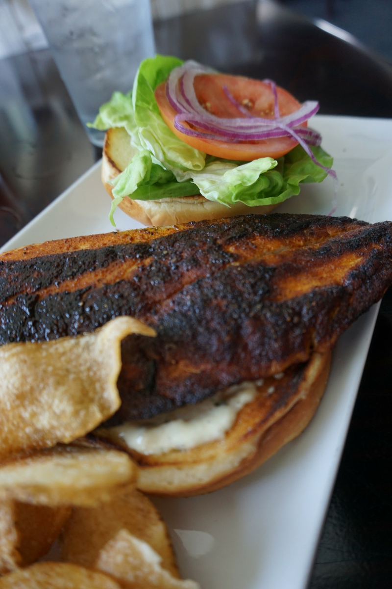 Blackened Fish Sandwich at Beach House Bar and Grille at the SpringHill Suites in Navarre Beach, Fla., May 19, 2018