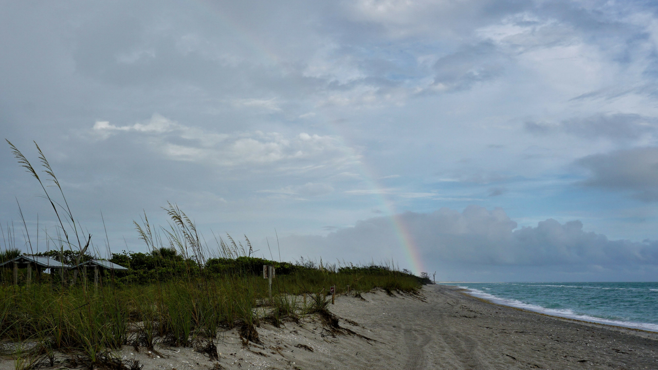 A Rainbow Through the Raindrops at Stump Pass Beach State Park, Englewood Beach, Fla., May 14, 2018.
