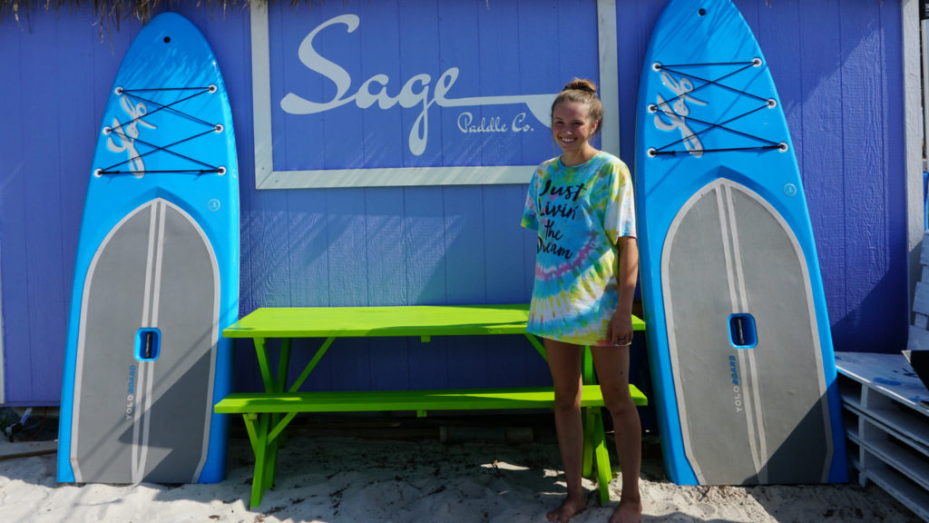 Sage Offutt Founded Sage Paddle Company in 2013 When She Was 11 Years Old. Navarre Beach, Fla., May 19, 2018.
