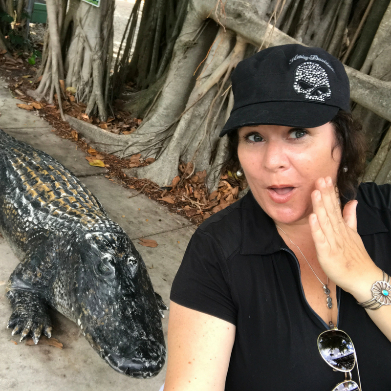 Selfie with a Gator! Everglades Wonder Gardens, Bonita Springs, Fla.