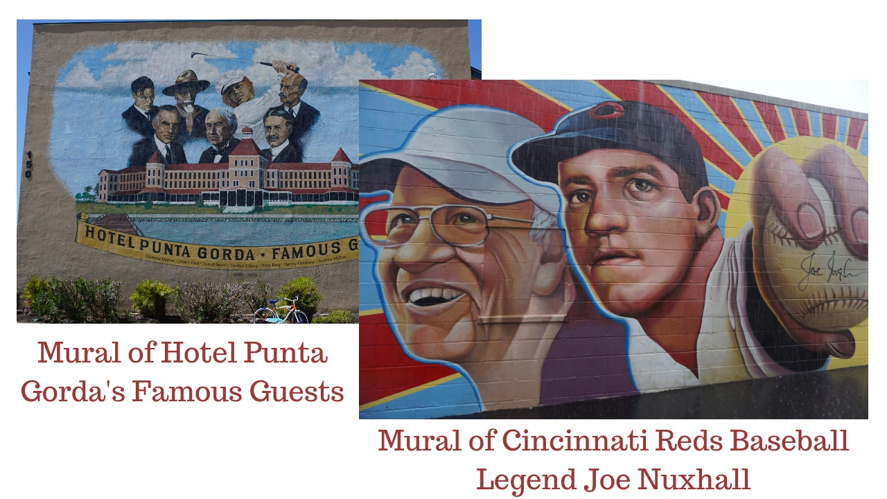 A Mural in Punta Gorda, Fla. and a Mural in Hamilton, Ohio. August 2018