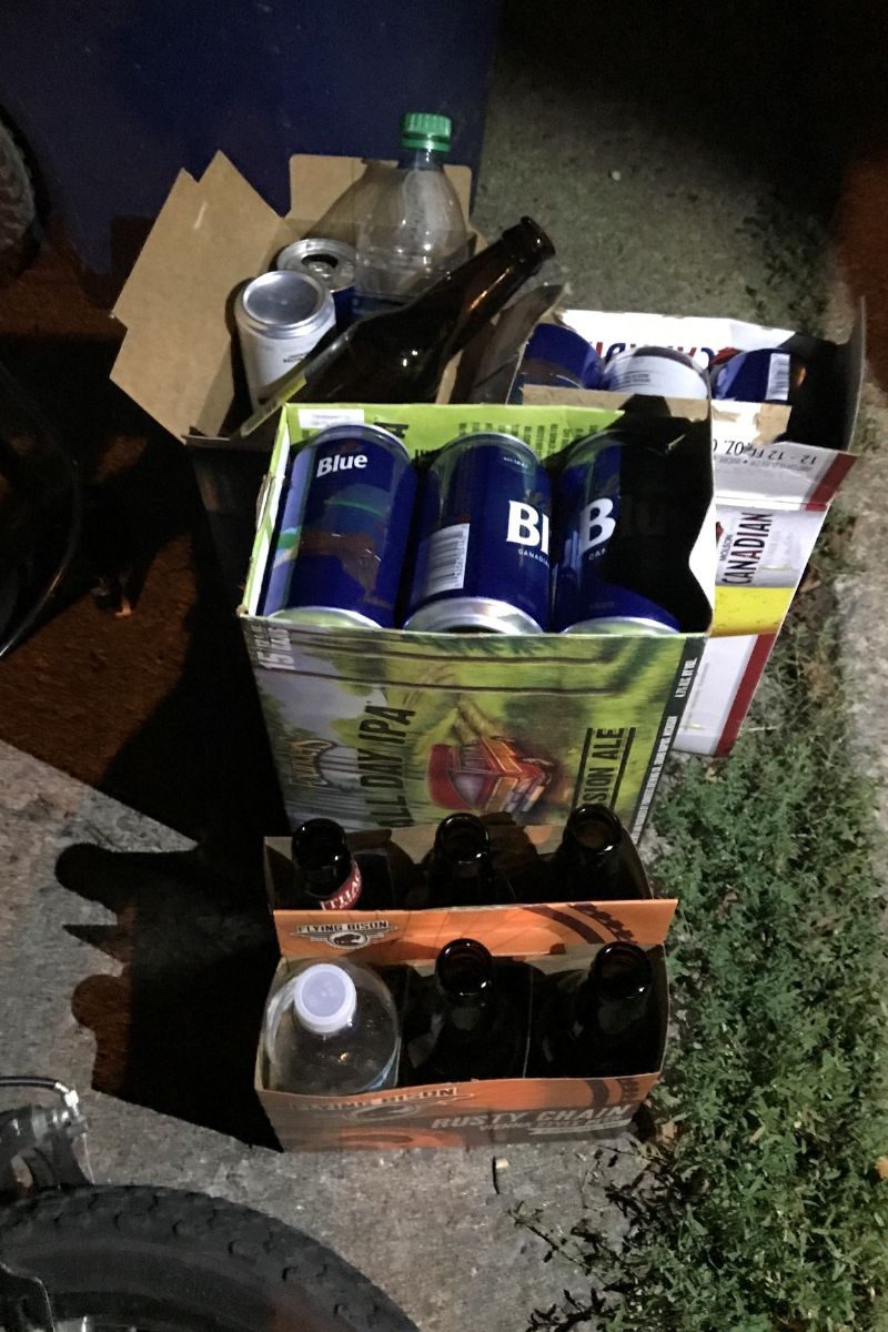 Gifts of Cans and Bottles in Buffalo.