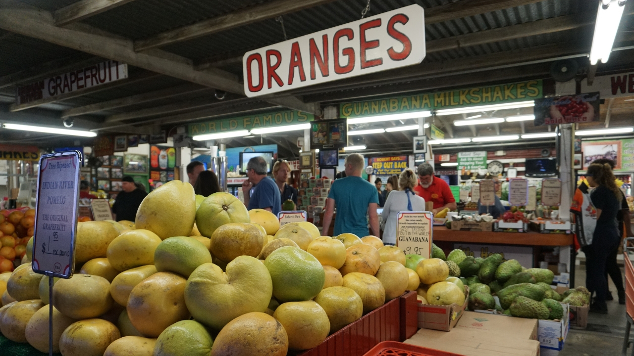 Oranges and Robert, Founder of Robert Is Here in Homestead, Fla.