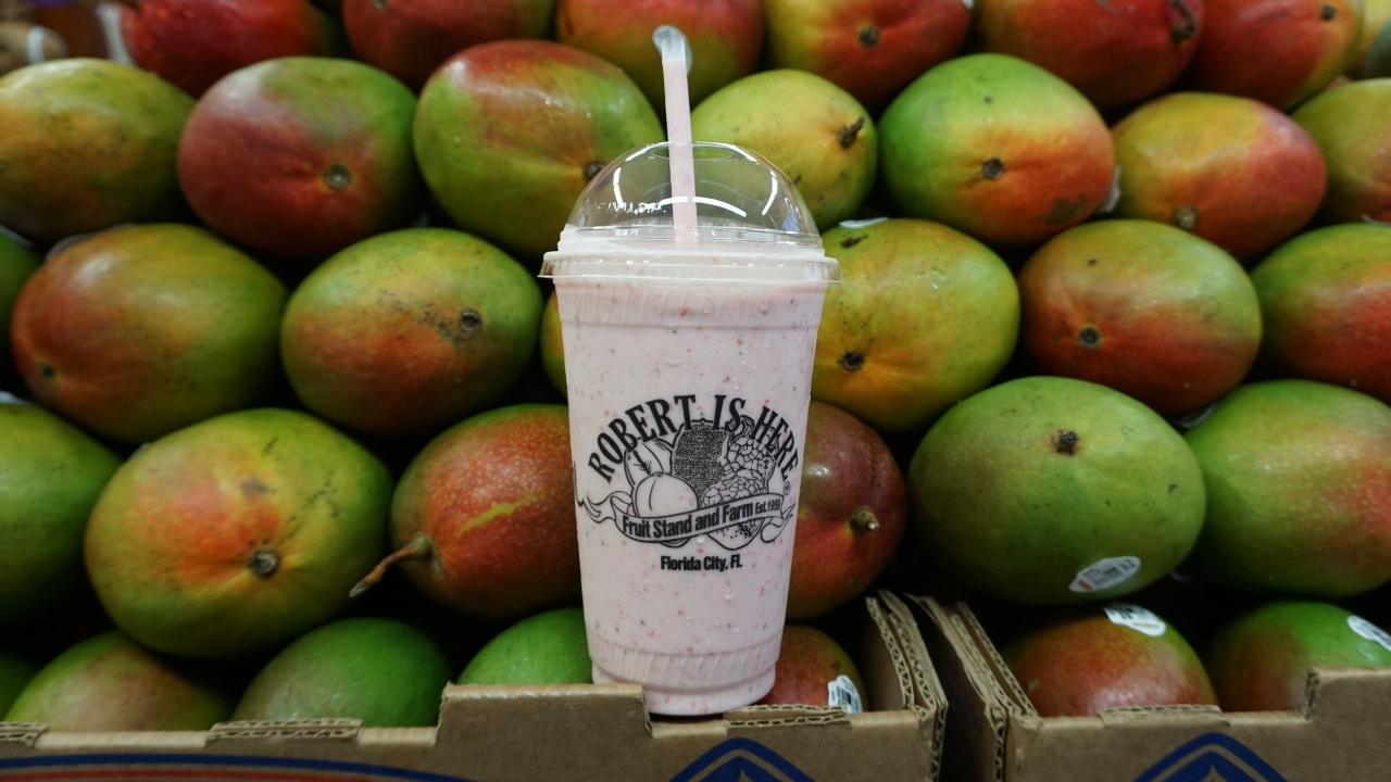 A Delicious Tropical Fruit Milkshake at Robert Is Here in Homestead, Fla.