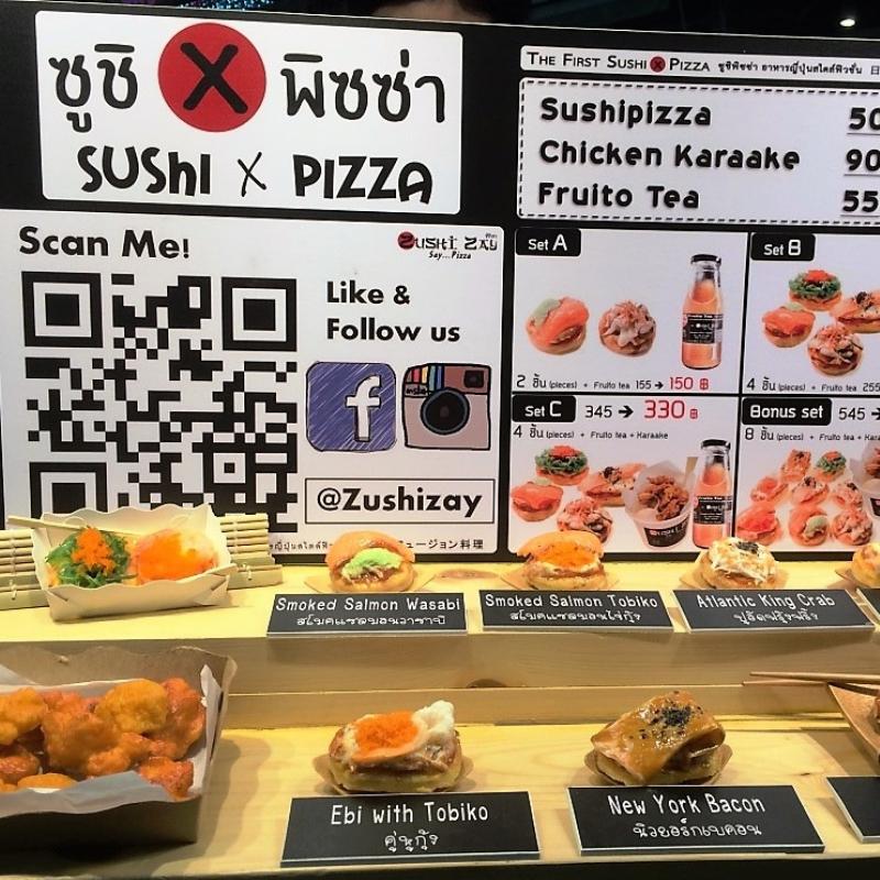 Sushin Pizza at K Village in Bangkok.