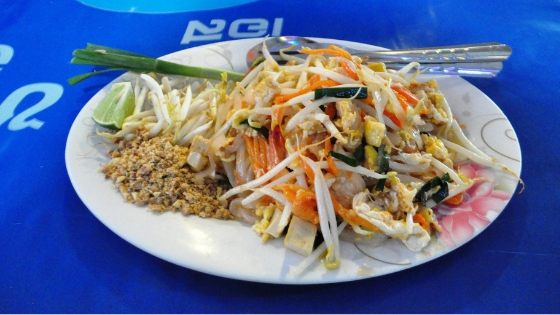 Pad Thai from the Chatuchak Weekend Market in Bangkok, Thailand.