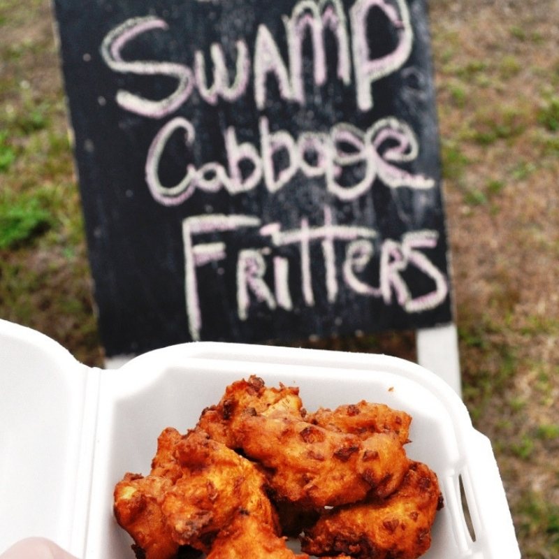 Swamp Cabbage Fritters During the Annual LaBelle Swamp Cabbage Festival.