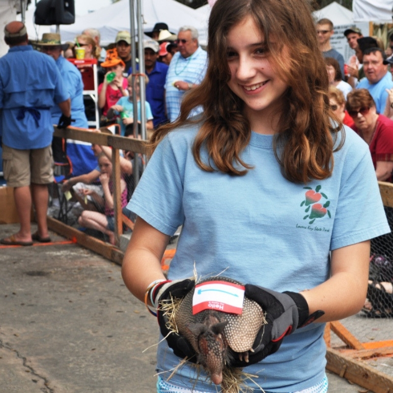 LaBelle Rotary Club's World-Famous Armadillo Races is One of the Highlights of the LaBelle Swamp Cabbage Festival Held in February.