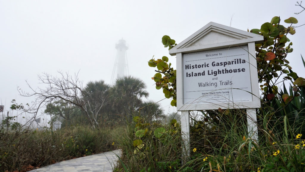 A Foggy Morning to Climb the Historic Gasparilla Island Lighthouse.