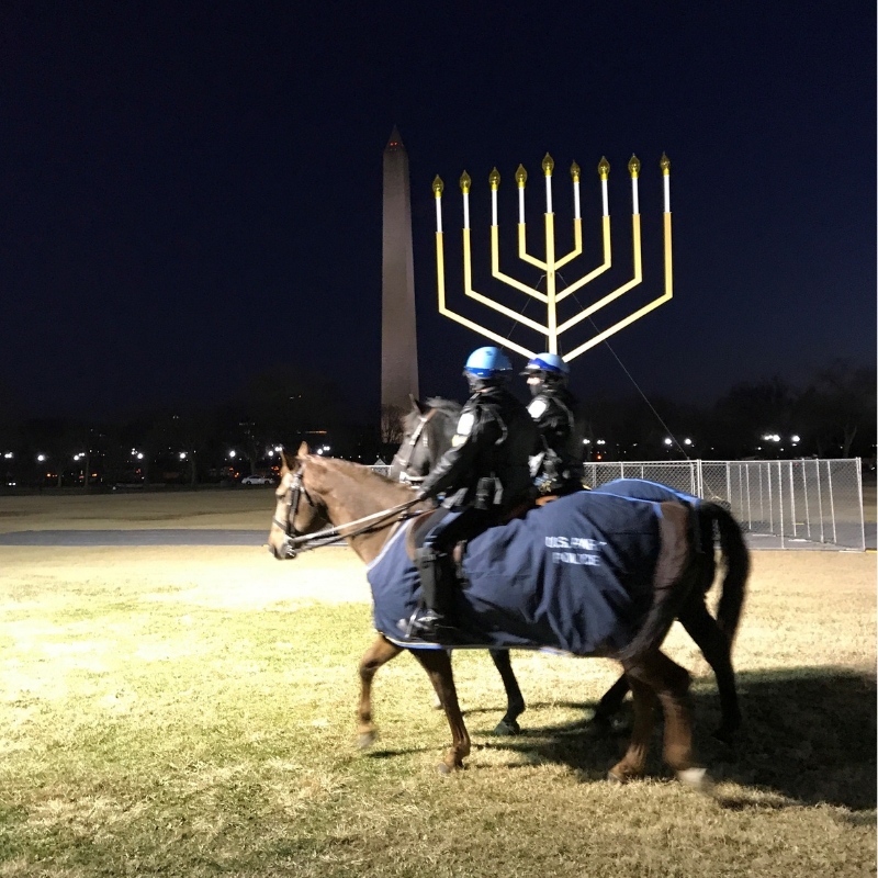The National Menorah Located in President's Park. It was First Lit in 1979 by President Jimmy Carter. I Wasn't Lit During My Visit. Nov. 28, 2018.