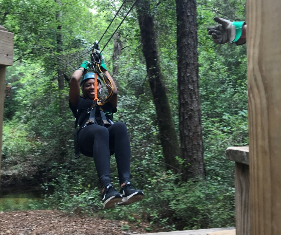 Ziplining at Adventures Unlimited Outdoor Center in Milton, Fla.