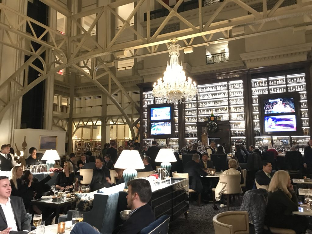 Benjamin Bar & Lounge at Trump International Hotel in Washington, D.C., Nov. 2018.