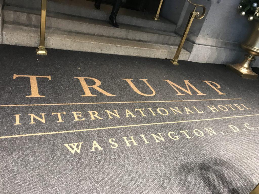 Entrance Rug into Trump International Hotel in Washington, D.C., Nov. 2018.