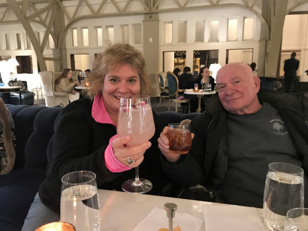Cheers! Cocktails with My Dad at Trump International Hotel, Washington, D.C., Nov. 2018.