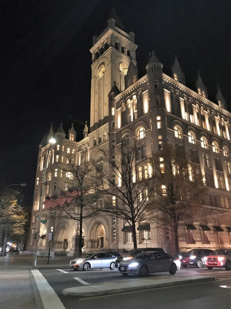 Benjamin Bar & Lounge is Located in Trump International Hotel in Washington, D.C., a Former U.S. Post Office, Nov. 2018.