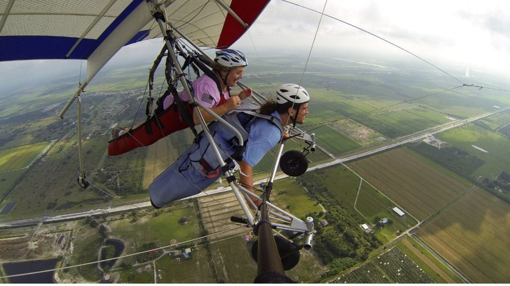 Me Tandem Hang Gliding with Florida Ridge Air Sports Park in Clewiston, Fla.
