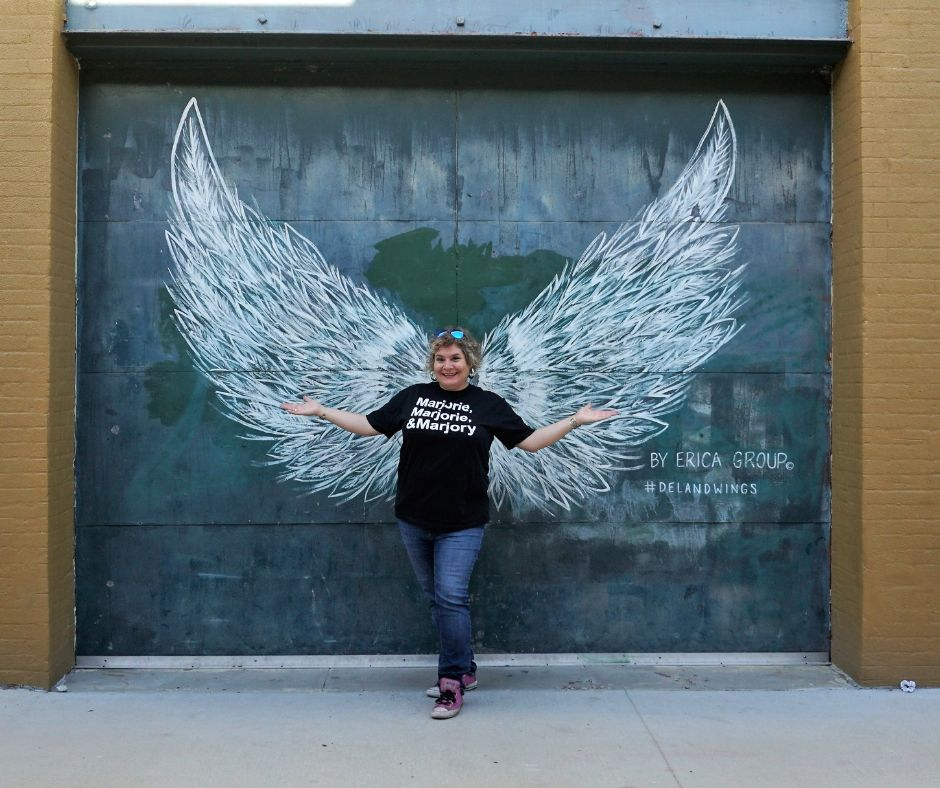That's Me with #DeLandWings in Downtown DeLand, Fla.