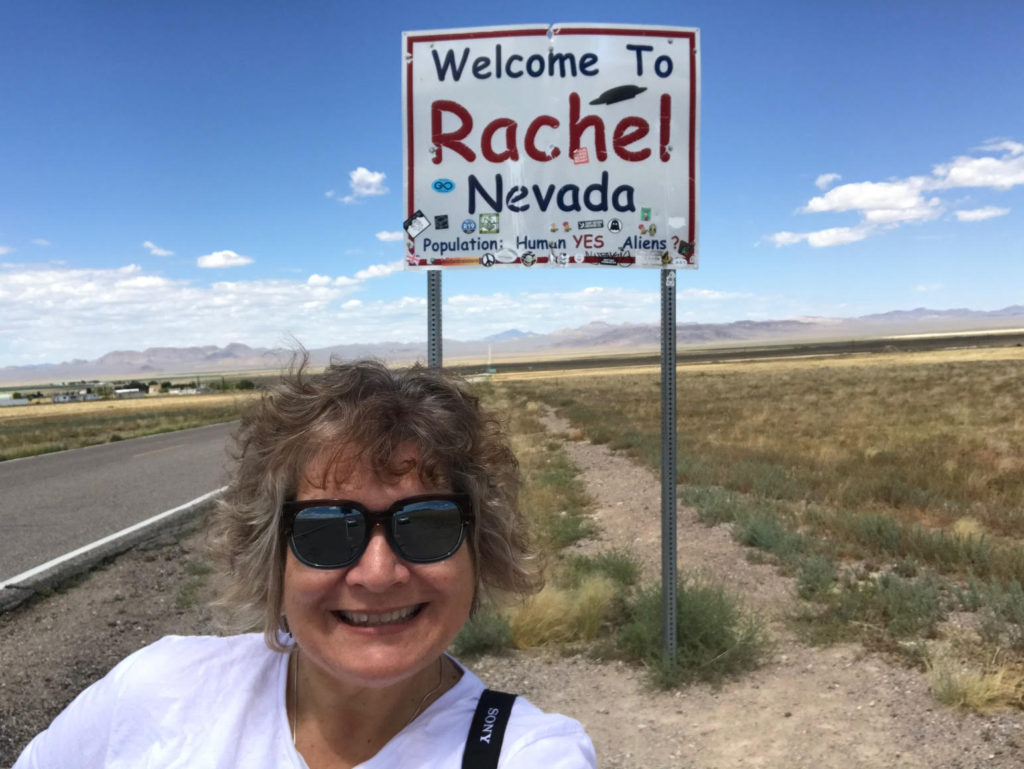 Rachel, Nevada. Population: Human: Yes. Alien: ? July 2019.