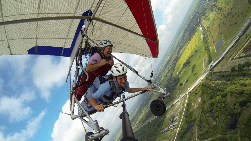 Wheee! Feeling Like Lois Lane Flying with Superman During a Tandem Hang Gliding Flight with Florida Ridge Air Sports Park in Clewiston, Fla.