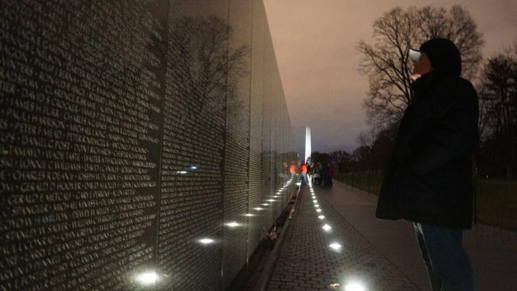 My Dad at the Vietnam Veterans Memorial, Nov. 2018
