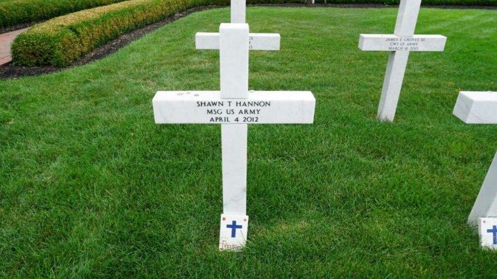 Memorial Marker at the Ohio Fallen Heroes Memorial Honoring Sgt. 1st Class Shawn T. Hannon from Grove City, Ohio.