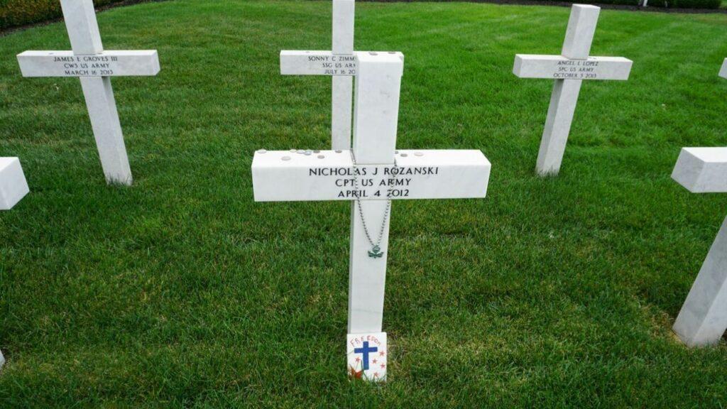 Memorial Marker at the Ohio Fallen Heroes Memorial Honors Capt. Nicholas J. Rozanski from Dublin.