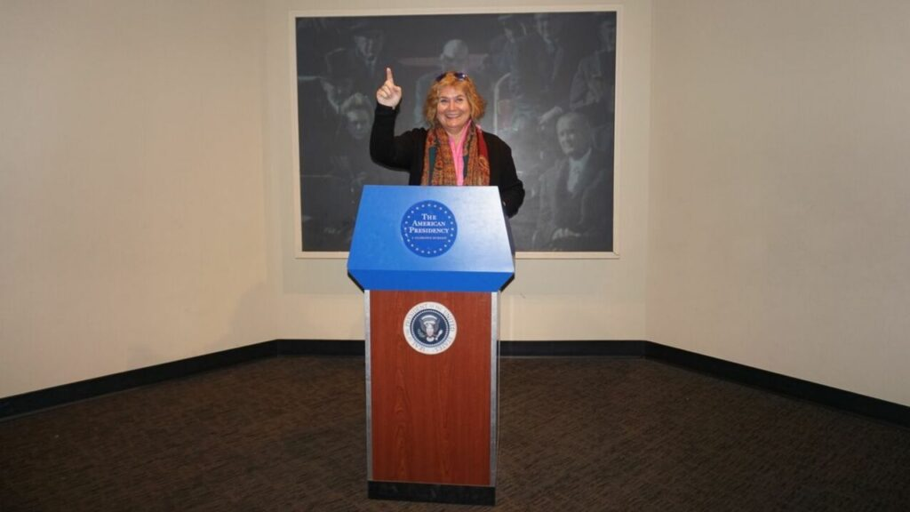I'm Reciting a Presidential Speech at the Smithsonian National Museum of American History in Washington, D.C. Or am I Practicing for Public Office? ;)