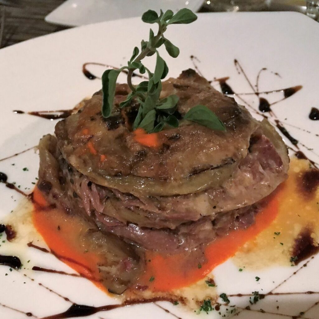 Lamb and Eggplant at Siroc Restaurant in Washington, D.C.