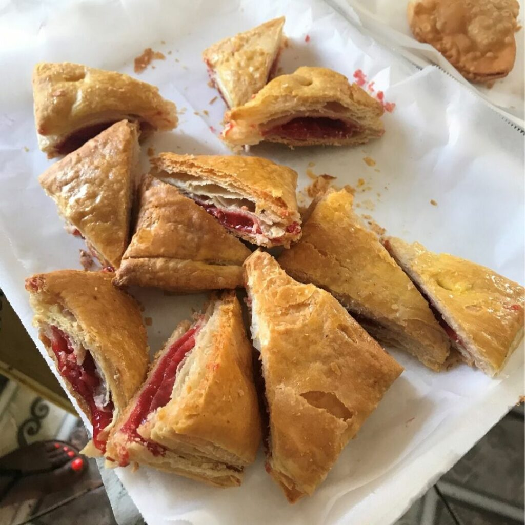Cuban Pastries - Guava and Cheese Pastelito in Miami's Little Havana, May 2019.