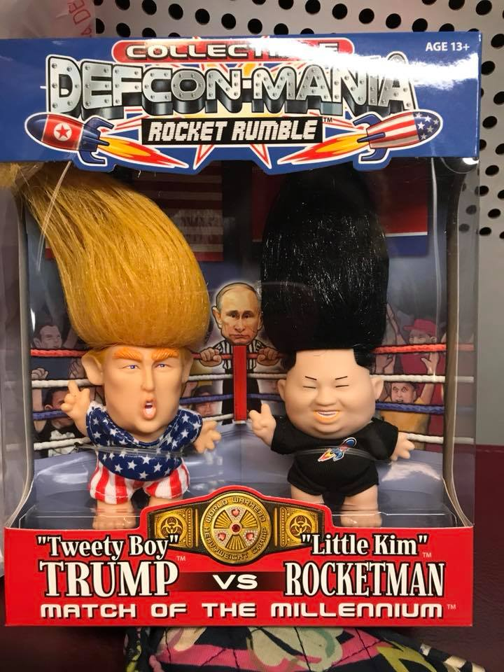 "Defcon-Mania Rocket Rumble! ""Tweety Boy"" Trump vs. ""Little Kim"" Rocketman. Match of the Millennium."