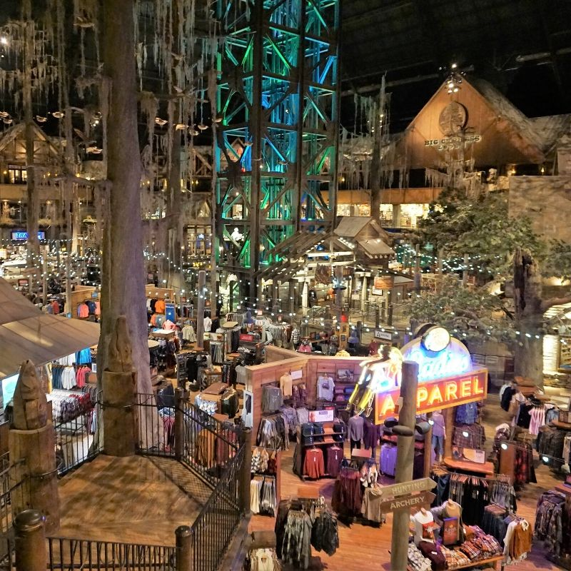 Inside Bass Pro at the Pyramid in Memphis, Tenn., 2019.