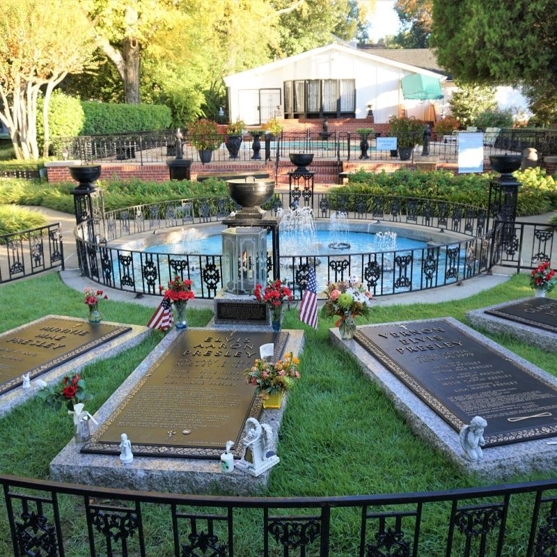 Elvis Presely's Meditation Garden at Graceland, Tenn., 2019