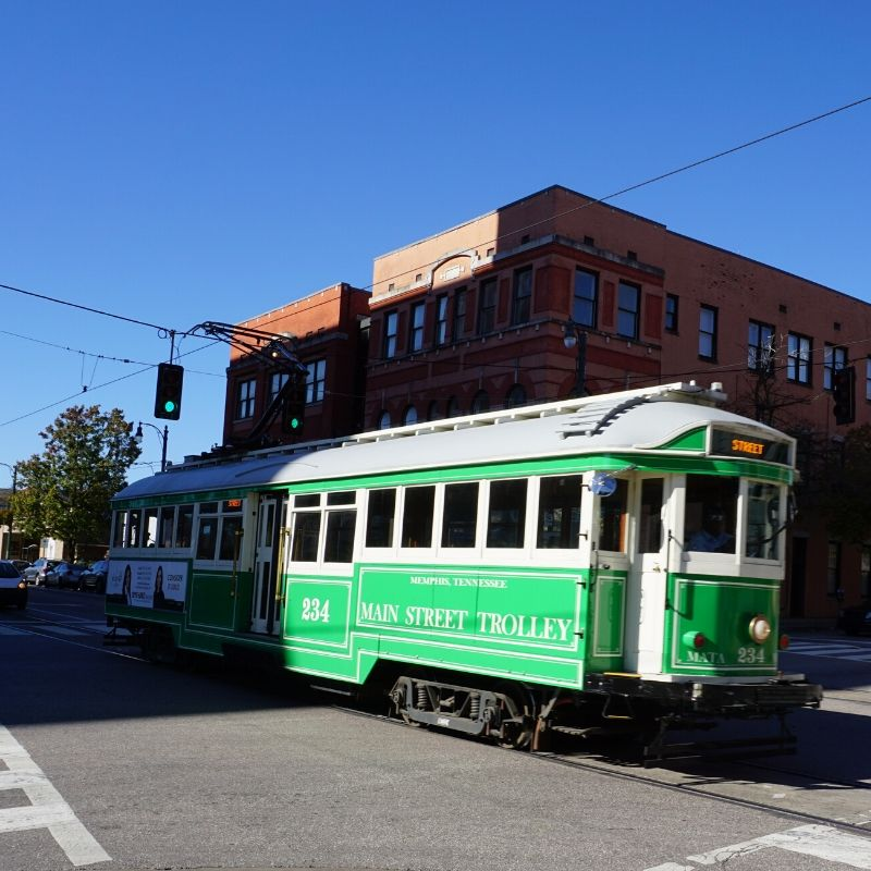 The Main Street Trolley in Memphis, Tenn.